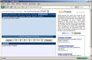 Tradução no Ajaxtrans.com