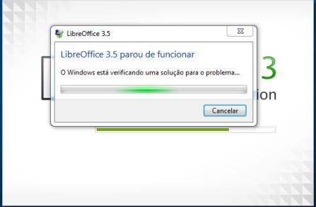 Erro LibreOffice